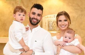 Andressa Suita e Gusttavo Lima batizam o filho caçula: 'Nosso Samuel'. Vídeo!