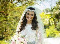 Vestido de noiva de Juliana Paiva em novela tem renda como destaque: 'Princesa'