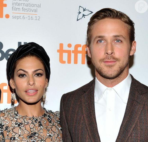 Ryan Gosling e Eva Mendes são pais de uma menina, em 12 de setembro de 2014