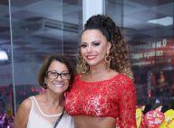 Viviane Araujo leva a mãe para ensaio do Salgueiro e encontra Maria Rita. Fotos!