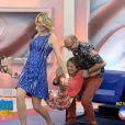Ticiane Pinheiro foi ao chão após brincadeira de 'cavalinho'