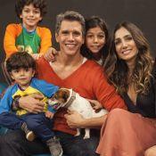 Iguais! Marcio Garcia é comparado ao filho caçula, João, de 4 anos: 'Sua cara!'