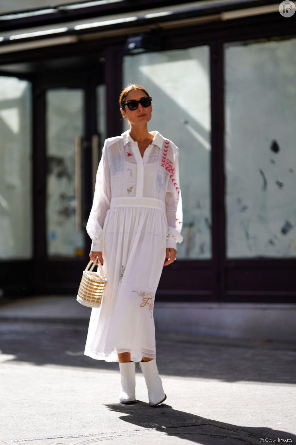 Tendência da temporada: botas brancas - com vestido de verão