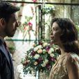 Júlia (Vitória Strada) vai humilhar Gustavo Bruno (João Vicente de Castro) ao rejeitar beijo do marquês nos próximos capítulos da novela 'Espelho da Vida'
