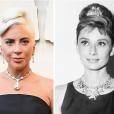 Audrey Hepburn foi a última pessoa a usar o diamante em um colar para as fotos de divulgação do filme 'Breakfast at Tiffany's', em 1961