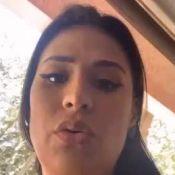 Simone passeia com carro rosa de Larissa Manoela e manda recado: 'Vou desfrutar'