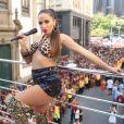 Anitta arrasou fantasiada de Bebel no Bloco das Poderosas, em 9 de março de 2019, no Rio de Janeiro