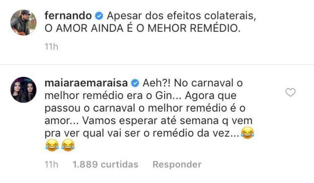 Maiara alfineta Fernando Zor após troca de beijos