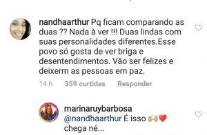 Marina Ruy Barbosa faz apelo diante de comparações com Marquezine: 'Chega, né?'