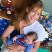 Marina Ruy Barbosa visita Luma Costa e família com o marido, Xande Negrão. Fotos