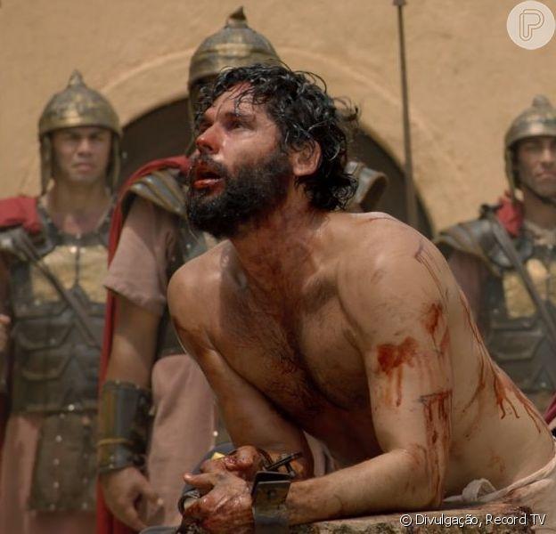 Jesus (Dudu Azevedo) passa a enfrentar seu calvário e começa a ser pregado na cruz a partir do capítulo de quarta-feira, 27 de março de 2019 da novela 'Jesus'