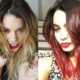 Vanessa Hudgens troca visual loiro por cabelos vermelhos intensos nesta quinta-feira, 2 de outubro de 2014