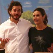 Cinema a dois! Fátima Bernardes e Túlio Gadêlha vão a shopping no Rio. Fotos!