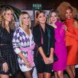 Marina Ruy Barbosa entre as amigas Didi Wagner, Isabella Santoni, Luma Costa e Lucy Ramos