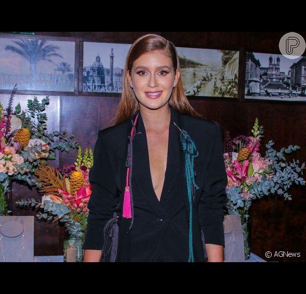 Confira o look ousado de Marina Ruy Barbosa. Veja fotos