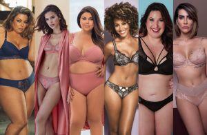 Poderosas! 50 fotos de famosas provam que a lingerie ideal é a que você quiser