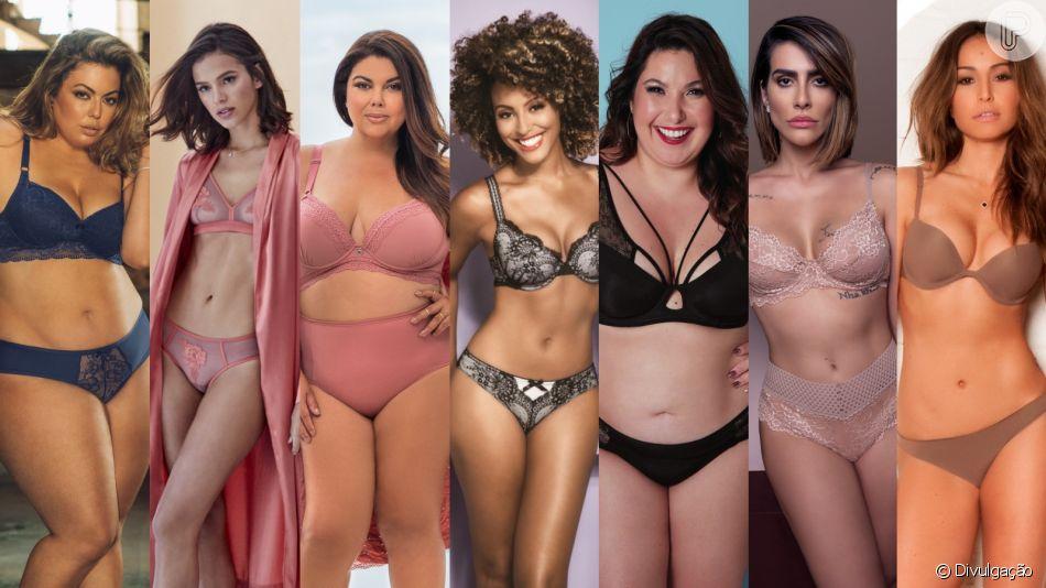 Famosas posam de lingerie e provam que sensualidade é para todos os corpos. Veja 50 fotos nesta sexta-feira, dia 05 de abril de 2019