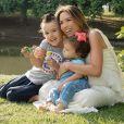 Filhos de Patricia Abravanel, Pedro e Jane participaram do ensaio de gravidez da mãe