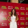 Bruna Marquezine foi anunciada nesta terça-feira, 7 de outubro de 2014, como a nova porta-voz da Garnier. Ao evento, que aconteceu em São Paulo, a atriz mostrou boa forma usando um vestidinho branco que deixou suas pernas de fora