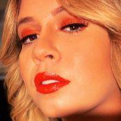 Tons quentes! Marília Mendonça combina make laranja e batom vermelho: 'Faísca'