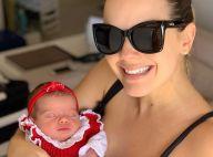Thaeme divide na web cuidado com a filha, Liz: 'Não deixo dormir de tiara'