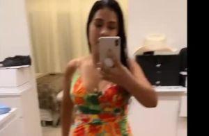 A dieta deu certo! Simone exibe shape em vestido decotado: 'Está cabendo'. Veja!