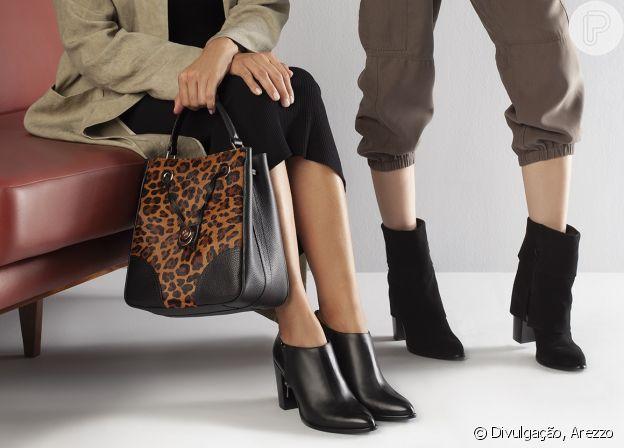 A bolsa com estampa animal print garante um visual cheio de estilo!