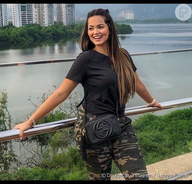 Suzanna Freitas entregou look ideal para corpo em vídeo no Instagram nesta quinta-feira, 2 de maio de 2019