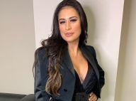 Simone ostenta silhueta mais fina em vestido com recorte vazado: 'Não cabia'