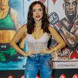 Paula Amorim usou lingerie nude como body para evento UFC 237