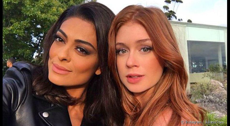 Juliana Paes ironiza unfollow de atrizes em Marina Ruy Barbosa em comentário, em 19 de maio de 2019