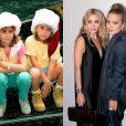 As gêmeas Mary Kate e Ashley Olsen começaram a atuar aos 9 meses na série 'Três é Demais', de 1987. A foto foi tirada em 1994 quando elas tinham 8 anos. O último filme que fizeram juntas foi 'No Pique de Nova York', em 2004