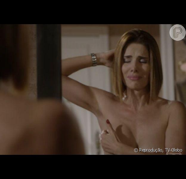 Helena Fernandes, intérprete de Lucrécia, apareceu na TV fazendo o autoexame do câncer de mama na novela 'Malhação'