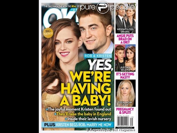 """Kristen Stewart e Robert Pattinson estariam """"grávidos"""""""