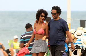 Domingo de sol! Maju Coutinho curte praia com o marido em dia de folga. Fotos!