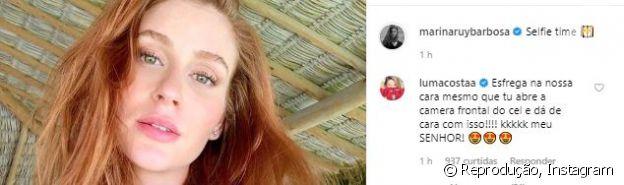 Luma Costa deixa comentário divertido em foto de Marina Ruy Barbosa