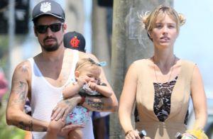 Juliana Didone segue amiga de Flávio Rossi após separação: 'Temos uma filha'