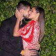 Casal fitness, Mari Gonzalez e Jonas Sulzbach dão beijão em lançamento de nova campanha publicitária da empresa Seara, no buffet Casa Fasano, emSão Paulo, na noite desta quinta-feira, 06 de junho de 2019