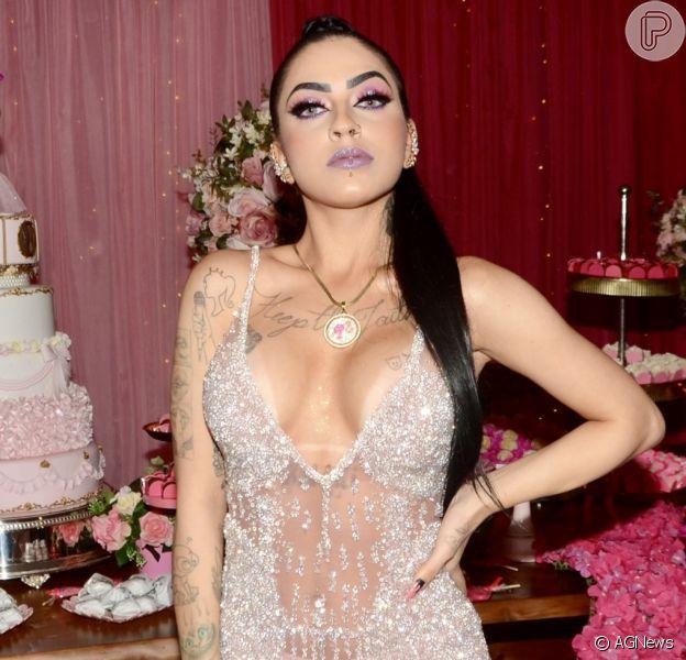 Mc Mirella comemora 21 anos em festa com tema Barbie, na Mansão Isadora Cortez, no bairro da Mooca, em São Paulo, na noite desta terça-feira, 18 de junho de 2019