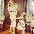 Angélica celebrou a parceria com a filha no yoga: 'Eva yogini'