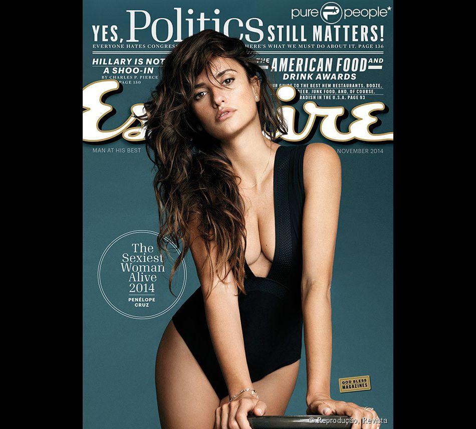 Revista elege Penélope Cruz como a mais sexy do mundo em 2014