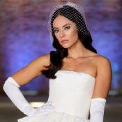 Pernas à mostra e corset: o vestido de noiva de Paolla Oliveira em novela. Foto!