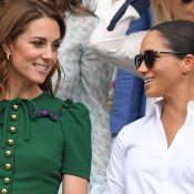 Meghan Markle usa look discreto em evento esportivo com Kate Middleton. Fotos!