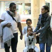 Filho de Lázaro Ramos impressiona por semelhança com o ator no aeroporto