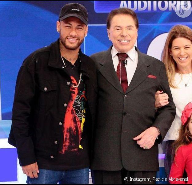 Neymar foi tietado por Patricia Abravanel nos estúdios do SBT, em São Paulo