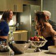 Novela 'Império': Danielle (Maria Ribeiro) vai para cima de Amanda (Adriana Birolli) ao ouvir da rival que ela beijou o seu marido