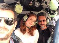 Marina Ruy Barbosa e Alexandre Nero gravam novela 'Império' em helicóptero