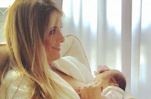 Ticiane Pinheiro exibe novo tênis personalizado da filha mais nova, Manuella