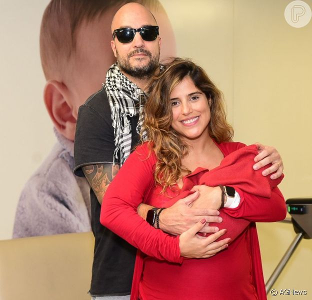 Camilla Camargo filma encontro do pai, Zezé Di Camargo, com o filho, Joaquim, em 25 de agosto de 2019