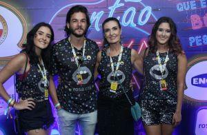 Fátima Bernardes vai a show com os filhos e o namorado, Túlio Gadêlha. Foto!